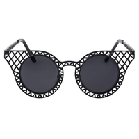 Caged Cat Eye Sunnies (Black)