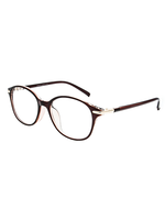Oval Plastic Brown Frame