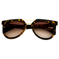 Miami Vice Demi Amber Sunnies (Animal Print)