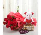 Ferns N Petals Rosy Combo