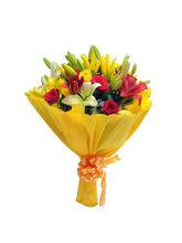 Ferns N Petals Mixed Roses N Lilies