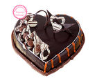 Ferns N Petals Mothers Day Express Gift Spl - Special Delicious Heart Shape Truffle Cake Half kg Eggless