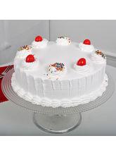 Ferns N Petals Fresh Vanilla Cake Half Kg Eggless, eggless