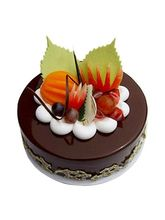 Ferns N Petals Fruit Chocolate Cake