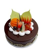 Ferns N Petals Fruit Chocolate Cake Half Kg Eggles...