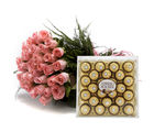 Ferns N Petals Roses With Chocolates
