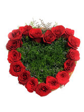 Ferns N Petals Heart Shape Roses