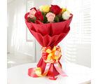 Ferns N Petals 12 Sundry Mix Roses