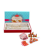 Ferns N Petals Diwali Express Gifts - Kaju Katli & Crackers
