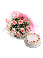 Ferns N Petals Flower And Cake Hamper