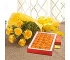 Ferns N Petals Roses N Ladoo