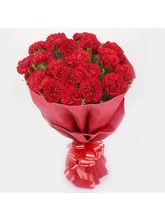 Ferns N Petals Red Blossom Carnations