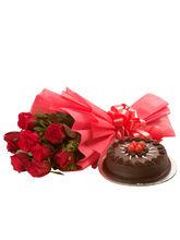 Ferns N Petals Roses N Cake