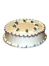 Ferns N Petals Fresh Vanilla Cake Half Kg Eggless