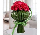 Lovely Dark Pink Roses Arrangement