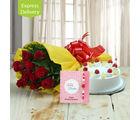 Ferns N Petals Rakhi With Floral Delight