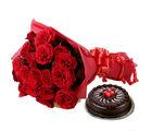 Ferns N Petals Roses N Chocolaty Love