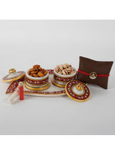 Ferns N Petals Rakhi Marble Thali Combo