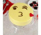 Ferns N Petals Cute Kiss Emoji Cream Cake, eggless