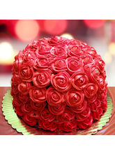 Ferns N Petals Special Delicious Red Rose Cake Hal...