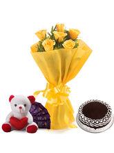 Ferns N Petals Roses N Choco Hamper