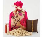 Ferns N Petals Healthy Cashews Rakhi Combo