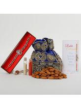 Ferns N Petals Crunchy Almonds Rakhi Combo