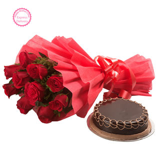 Ferns N Petals Mothers Day Special Red Roses With ...