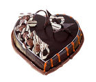 Ferns N Petals Special Delicious Heart Shape Truffle Cake Half Kg Eggless