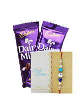 Ferns N Petals Dairy Milk And Rakhi Wishes