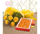 Ferns N Petals Mothers Day Special Roses N Ladoo