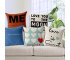 Sweet Home Decor Exclusive Jute Cushion Cover (16x16 inch) -Set of 5