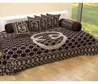 Sweet Home Decor - Exclusive Heavy Chenille 8 Pcs Diwan Set (1 Diwan Bedsheet+ 2 Bolster Cover+ 5 Cushion Covers)