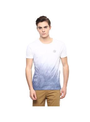 Printed Round Neck T-Shirt, 28,  white