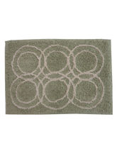 Decordlite Circle Pattern Saga Bath Mat (2010Decor_ Bm), small