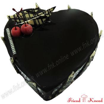 Heart Choco Truffle Cake, select time, egg, 1 kg