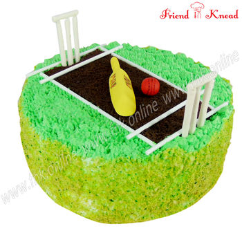 Cricket Stadium Cake, 1 kg, egg