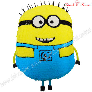 Kids' Special - Minion Cake, eggless, select time, 3 kg