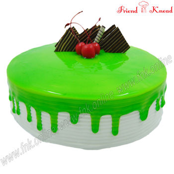 Eggless Kiwi Cake, 0.5 kg, select time, eggless