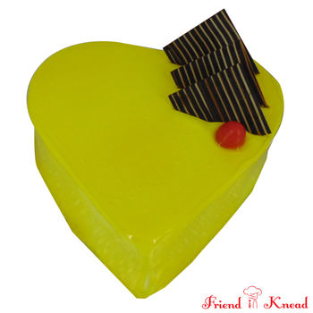 Heart Pineapple Cake, select time, egg, 0.5 kg