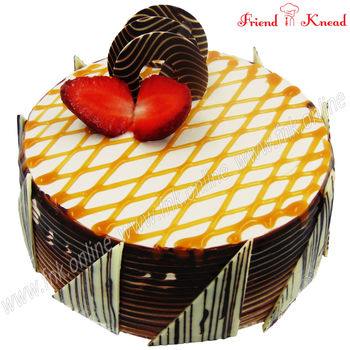 Choco Caramel Fudge Cake, 0.5 kg, select time, egg