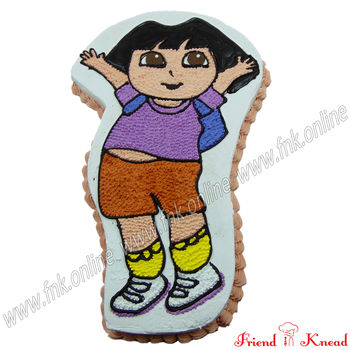 Funny Dora Cake, egg, select time, 3 kg