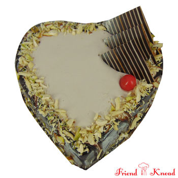 Heart Choco Nuts Cake, select time, egg, 0.5 kg