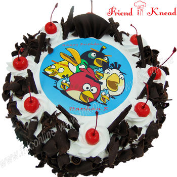 Angry Birds Photo Cake, 1 kg, 12 pm - 1 pm, white forest