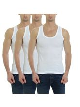 Gbros Classic Mens Vest Pack of 3 (GBCVP3), 95, white