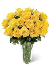 India Gifts Hub Yellow Roses Vase 36 Flowers (IGHFLOW048)