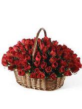 India Gifts Hub 250 Red Roses Basket (IGHFLOW026)