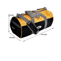 Gym Bag - -Round shape (MN-0286-YLW-BLK)