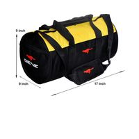 Gym Bag - -Round shape (MG-1014-YLW-BLK)