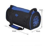 Gym Bag -Round shape (M-0274-BLU-BLK)